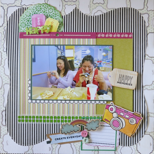 A faster way to put together a scrapbook page